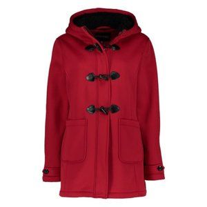 NWT BIG CHILL Red Fleece Hooded Anorak Coat 2X